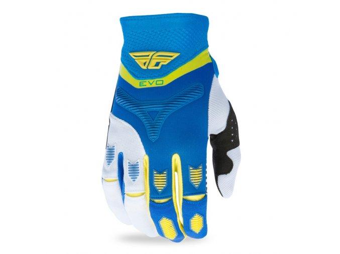 rukavice EVO 2017, FLY RACING - USA (modrá/žlutá/bílá)