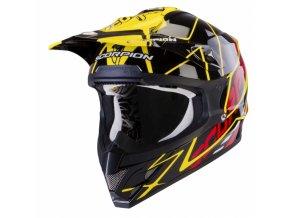 Moto přilba SCORPION VX-15 AIR SPRINT černo/žluto/červená XS