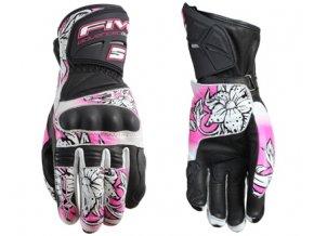 Dámské moto rukavice FIVE RFX NEW WOMAN REPLICA flower XL