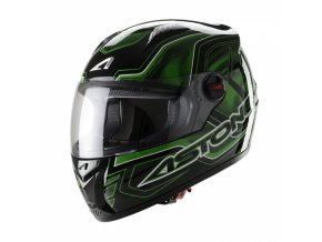 Moto přilba ASTONE GT BURNING zelená S