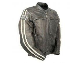 Moto bunda RICHA RETRO RACING hnědá kožená - nadměrná velikost