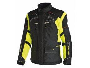 Moto bunda RICHA INFINITY černo/žlutá fluo