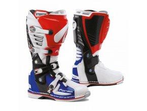 Moto boty FORMA PREDATOR bílo/červeno/modré