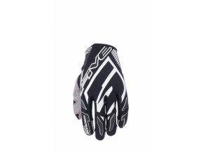 Moto rukavice FIVE MXF PRO RIDER černo/bílé
