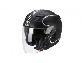 Moto přilba SCORPION EXO-220 BIXBY černo/bílá matná