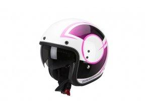 Moto přilba SCORPION BELFAST CITURBAN pearl bílo/růžová S