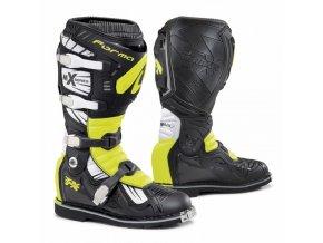 Moto boty FORMA TERRAIN TX černo/bílo/žluté fluo