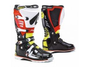 Moto boty FORMA PREDATOR černo/žluté fluo/červené