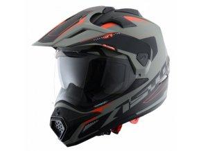 Moto přilba ASTONE CROSS TOURER ADVENTURE matná šedo/černá ADVGB
