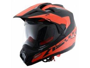 Moto přilba ASTONE CROSS TOURER ADVENTURE matná černo/červená