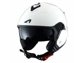 Moto přilba ASTONE MINIJET S TROOPER bílo/černá