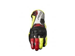 Moto rukavice FIVE RFX4 REPLICA černo/žluté fluo