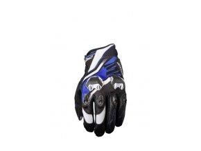 Moto rukavice FIVE STUNT EVO REPLICA ICON modré
