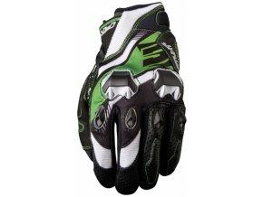 Moto rukavice FIVE STUNT EVO REPLICA ICON zelené