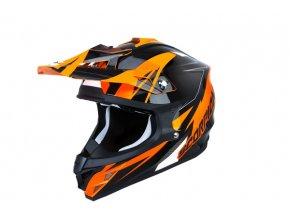 Moto přilba SCORPION VX-15 EVO AIR KRUSH oranžová