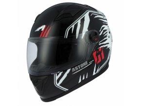 Moto přilba ASTONE GT2 PREDATOR černo/bílá