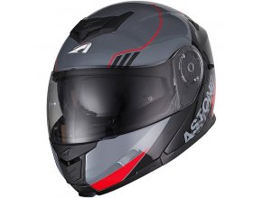 Moto přilba ASTONE RT1200 UPLINE červeno/šedá