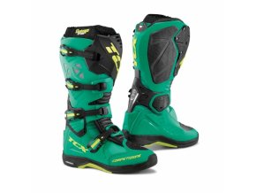 Moto boty TCX COMP EVO MICHELIN® scuba blue/lime