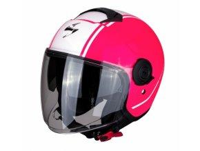 Moto přilba SCORPION EXO-CITY AVENUE růžovo/bílá S