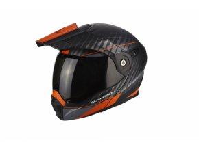 Moto přilba SCORPION ADX-1 DUAL matná černo/stříbrno/oranžová M