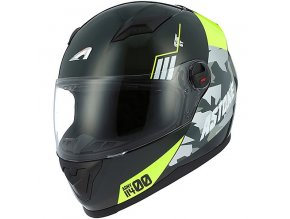 Moto přilba ASTONE GT2 ARMY černo/žlutá