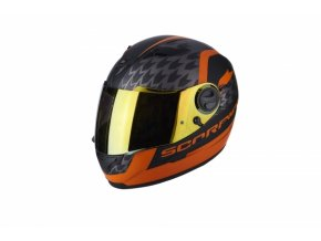 Moto přilba SCORPION EXO-490 GENESI matná černo/oranžová