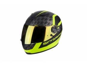 Moto přilba SCORPION EXO-490 GENESI matná černá/neonově žlutá