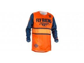 dres Kinetic ERA 2018, FLY RACING - USA (oranžová/modrá)