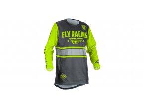 dres Kinetic ERA 2018, FLY RACING - USA (šedá/hi-vis)
