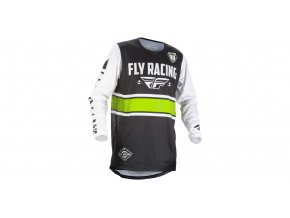 dres Kinetic ERA 2018, FLY RACING - USA (bílá/černá)