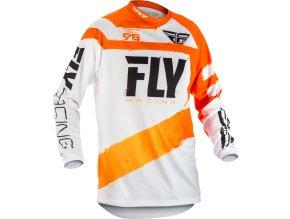 dres F-16 2018, FLY RACING - USA (oranžová/bílá)