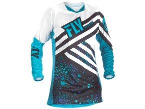 dres Kinetic 2018, FLY RACING - USA dámský (modrá/černá)