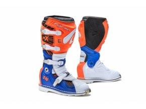 Moto boty FORMA TERRAIN TX oranžovo/bílo/modré