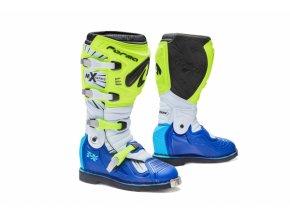 Moto boty FORMA TERRAIN TX žluto/bílo/modré
