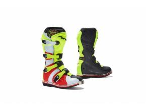 Dětské moto boty FORMA COUGAR černo/žluto/červené