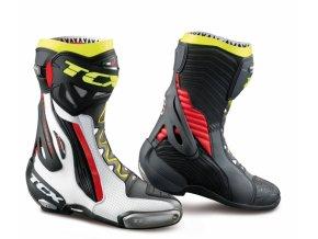 Moto boty TCX RT-RACE PRO AIR bílo/červeno/žluté