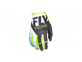 rukavice KINETIC 2018, FLY RACING - USA (černá/bílá/hi-vis)