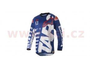dres Racer Braap 2018, ALPINESTARS - Itálie (modrý/bílý/červený)