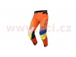 kalhoty Racer Screamer 2018, ALPINESTARS - Itálie, dětské (oranžové fluo/modré/bílé/žluté fluo)