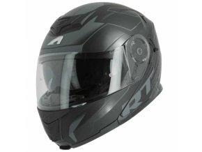 Moto přilba ASTONE RT1200 WORKS matná černo/metal modrá