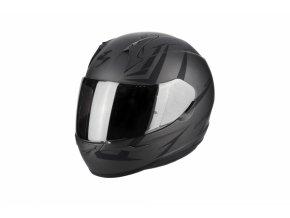 Moto přilba SCORPION EXO-390 HAWK matná tmavě stříbrno/černá