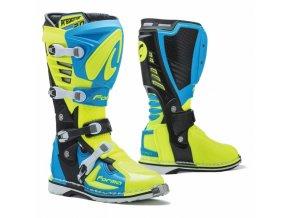 Moto boty FORMA PREDATOR 2.0 světle modro/žlutá fluo