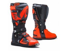 Moto boty FORMA PREDATOR 2.0 černo/antracitovo/oranžové