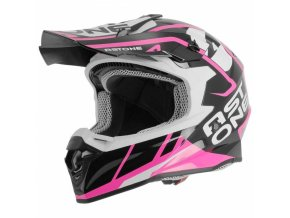 Moto přilba ASTONE MX800 TROPHY růžová