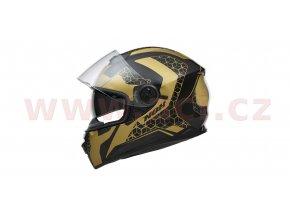 přilba N301 STEEL, NOX (zlatá/černá matná, balení vč. pinlock folie)