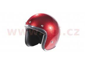 přilba N242, NOX (červená metalická)