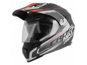 Moto přilba ASTONE CROSSMAX ROAD matná černo/šedo/červená