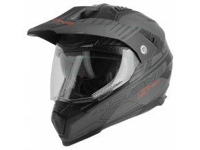 Moto přilba ASTONE CROSSMAX S-TECH černá matná