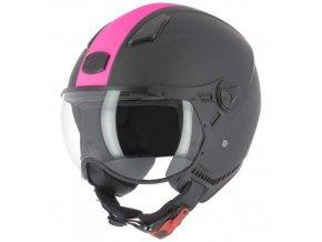 Moto přilba ASTONE KSR 2 matná černo/růžová