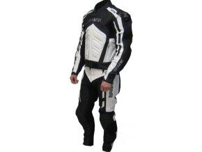 Pánské kožené moto kalhoty Spark GP, bílé